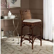 safavieh brando 28 in brown cushioned bar stool sea4014a the