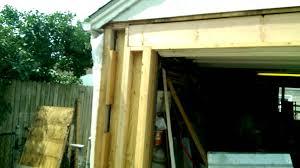 Pro Overhead Door by Garage Overhead Door Framing Rebuild Youtube