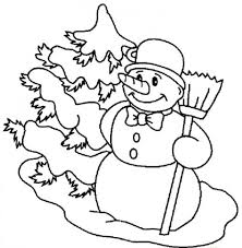 carrot nose snowman coloring pages winter coloring pages