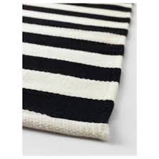 Black And White Striped Kitchen Rug Stockholm Rug Flatwoven 5 7 X7 10 Ikea