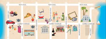 Florida Mall Store Map by Discover Historic Corey Avenue The Heart Of St Pete Beach Florida