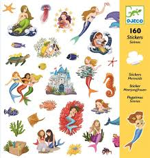 djeco stickers mermaid 160 pcs psikhouvanjou djeco stickers mermaid 160 pcs