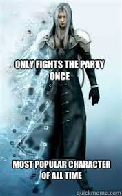 Sephiroth Meme - dysfunctional sephiroth memes quickmeme