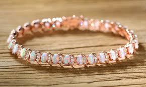 bracelet fire images Up to 31 off on fire opal wave tennis bracelet groupon goods jpg