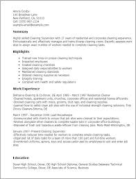 House Cleaning Resume Examples Professional Cleaner Resume Cleaning Business Resume Sample Resume