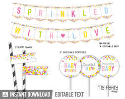 baby sprinkle baby sprinkle party printable party pack my party design