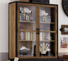 Pottery Barn Warehouse Clearance Sale Lincoln Double Glass Door Hutch Pottery Barn