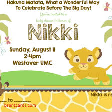 baby lion king baby shower the lion king baby shower invitations free card design ideas