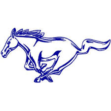 mustang horse logo applike friendswood high mighty mustang band