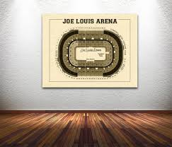 home decor line vintage new detroit red wings joe louis arena on photo paper