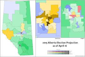 Calgary Alberta Canada Map by Canadian Election Atlas 2015 Alberta Election Projection 1