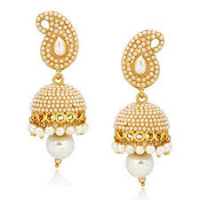 gold earrings necklace images Buy meenaz jewellery gold plated pearl jhumka earring ear rings jpg