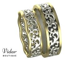 matching wedding bands his and hers two tone matching wedding bands his and hers vidar boutique