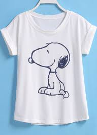 Peanuts Halloween T Shirts Snoopy Print Loose T Shirt Snoopy Printing And Clothes