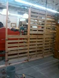 Temporary Wall Ideas Basement by Pallet Wall Easy Ventilation For A Furnace Room It Just Looks