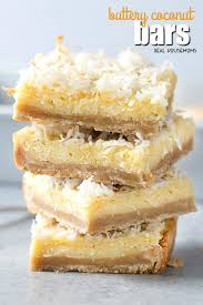 easy dessert recipes buttery coconut bars real housemoms