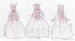 dress sketches the trio of ladies by jackie m illustrator on