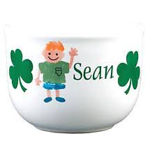 Personalized Ice Cream Bowl Personalized Irish Kids Cereal Bowl At Irishshop Com Clyd626irish