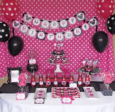 1st Birthday Party Decorations Homemade Diy Minnie Mouse Pink Deluxe Printable Birthday Party Package