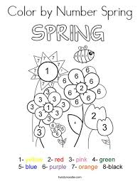 spring color color by number spring coloring page twisty noodle