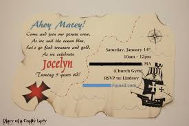 diary of a crafty lady pirate party part 5 invitations thank you