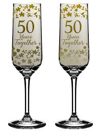 50 year anniversary gift 50 years together 50th anniversary chagne flutes in gift box