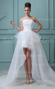 high low ruffle wedding dress wholesale hi lo wedding dresses a line strapless tulle ruffles
