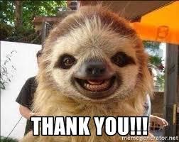 Sloth Meme Maker - thank you thank you sloth meme generator