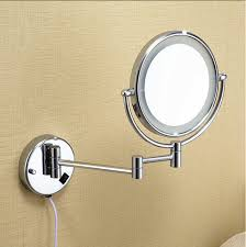 Magnifying Bathroom Mirror With Light Bathroom Chrome Wall Mounted 8 Inch Brass 3x 1x Magnifying