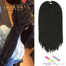 Human Hair Loc Extensions by Wholesale 18inch Faux Locs Crochet Hair Dreadlocks Braids Havana