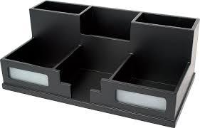 Black Wood Desk Amazon Com Victor Wood Midnight Black Collection Desk Organizer