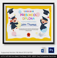 preschool graduation diploma preschool graduation certificate template free free printable