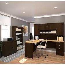 Desk Hutch Bookcase Merritt L Shape Desk With Hutch Bookcase And Lateral File