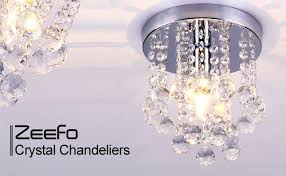 Best Way To Clean Chandelier Crystals Zeefo Crystal Chandeliers Light Mini Style Modern Décor Flush