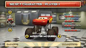 monster trucks video games disney monster truck lightning mcqueen and mater cars cars mater
