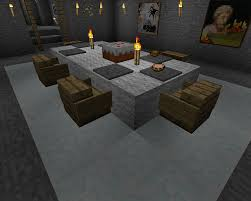 How To Make A Table In Minecraft Minecraft Furniture Inspirations