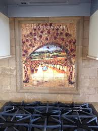 tile art italian tiles of vineyard roses backsplash tiles