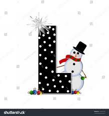 letter l alphabet set frosty black stock illustration 171075143