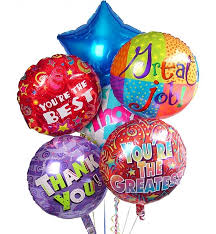 balloon delivery new orleans thank you balloon bouquet 6 mylar balloons thank them by