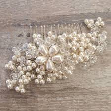 wedding hair combs pearl bridal hair comb by jewellery made by me