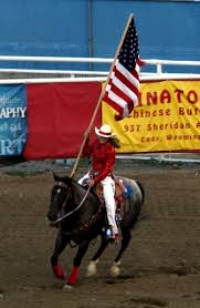 Horse With American Flag What It U0027s Like To Go To An American Rodeo Double Barrelled Travel