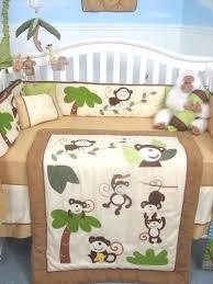 Crib Bedding Monkey Soho Curious Monkey Baby Crib Nursery Bedding Set 13 Pcs Included