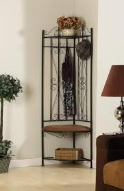 Metal Hall Tree Bench Black Metal Corner Entryway Hallway Storage Bench Hall Tree Coat