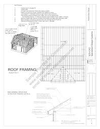 28x36 saltbox garage 12 16 plans blueprints sample page 05 sds plans