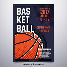 basketball poster design vector free