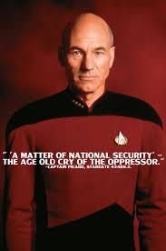 Jean Luc Picard Meme - a message from captain picard regarding the nsa imgur