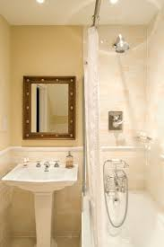best 25 shower rail ideas on pinterest small tub small traditional bathroom with stainless steel shower rail curtain and hooks fantastically classy installation at