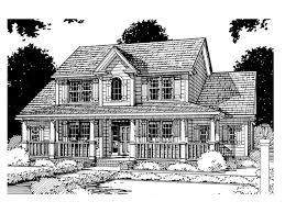 2 Story Country House Plans by Farmhouse Plans Two Story Farmhouse Plan With Wrap Around Porch