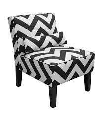 Black And Gold Accent Chair Amazon Com Skyline Furniture Armless Chair In Zig Zag Black And