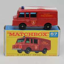 land rover matchbox vintage lesney matchbox 57c landrover fire truck mint in mint box
